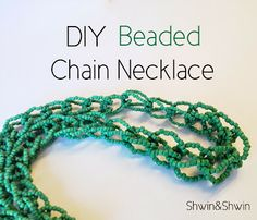 DIY Beaded Chain Necklace