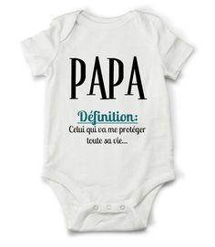 Body grenouillère définition de papa... : Mode Bébé par creatike