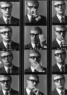 Michael Caine in character for The Ipcress File photographed by Brian Duffy, c. 1965. #TheContactSheet