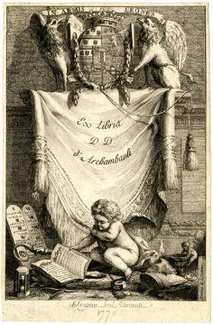 Ex-Libris D.D. d'Archambault. Print made by Antoine François Sergent-Marceau, 1778
