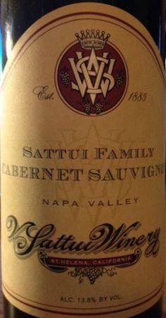 2007 V. Sattui Winery Cabernet Sauvignon Sattui Family, USA, California, Napa Valley -    Smooth and velvety, dark purple with a nice fruit nose, soft on tanin. Very enjoyable!