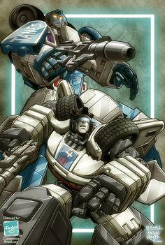 Transformers - Jazz & Mirage by Mark Brooks