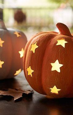Pumpkin star luminary