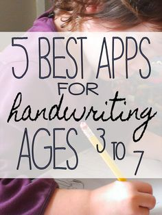 Fine Motor Skills: Best apps for #handwriting