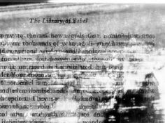 """Excerpts from the Library of Babel,"" a project by Ted Hiebert. He uses Kirlian photography to reveal marks left by previous readers of the story."