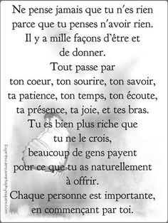 Cada persona es importante French Words, French Quotes, Positive Mind, Positive Vibes, Illness Quotes, Soulmate Love Quotes, Quote Citation, Think, My Mood