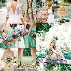 Spearmint, Peach, & Gold wedding inspiration