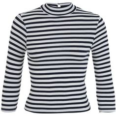 Miss Selfridge Petites Stripe Rib Jersey Top ($22) ❤ liked on Polyvore featuring tops, cream, petite, ribbed top, stripe top, jersey knit tops, petite tops and cream top