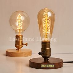 Find More Table Lamps Information about 2015 New Vintage Wood Table Lamps Industrial Edison Bulb Table Light Bedroom Bedside Lamp Bar  abajur light Fixtures luminaire ,High Quality lamp kitchen,China table lamp set Suppliers, Cheap table lamp with glass shade from Zhongshan East Shine Lighting on Aliexpress.com