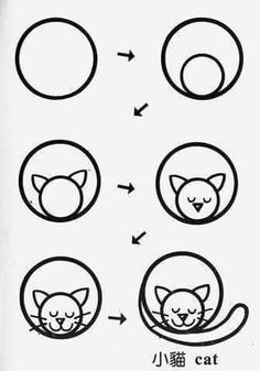 Draw cat circle More