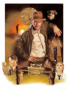 Raiders of the Lost Ark Henry Jones Jr, Normal Movie, Steven Spielberg Movies, 1980s Films, Good Movies, 80s Movies, Fantasy Movies, Harrison Ford, Star Wars Poster