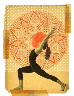 Yoga collage by Gregory Ryan Klein Kundalini Yoga, Ashtanga Yoga, Yoga Meditation, Iyengar Yoga, Yoga Nidra, Yoga Sequences, Ying Y Yang, Partner Yoga Poses, Yoga Illustration