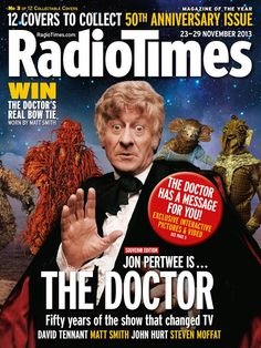 William Hartnell, Patrick Troughton, Jon Pertwee and Tom Baker star on the first four of 12 Radio Times Doctor Who covers Bbc Doctor Who, Good Doctor, Doctor Who Specials, Radio Times Magazine, Dr Who Companions, Jon Pertwee, Classic Doctor Who, Steven Moffat, Dreams And Nightmares