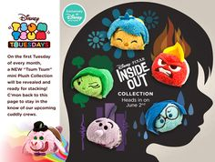 Disney's Inside Out Tsum Tsum Plush Collection