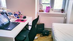 Student Room, Small Wardrobe, Moving Day, Duvet Bedding, Room Tour, Large Windows, Beautiful One, Window Sill, New Furniture