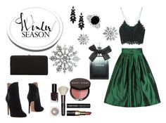 """Snow and lace"" by madalina-elena-istrati ❤ liked on Polyvore featuring Zara, Alaïa, Urban Expressions, Bobbi Brown Cosmetics and Torrid"