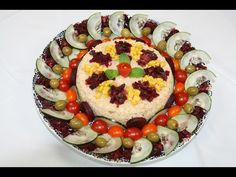 Salade Composée de Riz & Betteraves - Fresh Mixed Salad - سلطة مغربية راقية