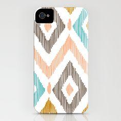 Sketchy Diamond IKAT iPhone Case by Patty Sloniger - $35.00