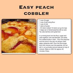How to Make EASY Peach Cobbler Dump Cake | Recipe | Crunch Cake ...