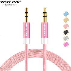 Voxlink 3.5mm jack araba aux kablo erkek stereo ses Kablosu 1 M 2 M 3 M Car Mp3 Player Hoparlör bilgisayar