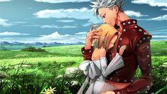 The Seven Deadly Sins, Ban and Elaine Seven Deadly Sins Anime, 7 Deadly Sins, Green Characters, Anime Characters, Ban And Elaine, Animé Fan Art, Manga Anime, 3840x2160 Wallpaper, Grand Cross