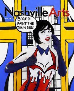 Nashville Art's June 2013 cover #Nashvilleart