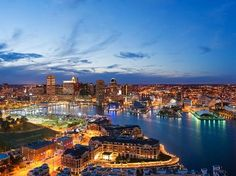 Baltimore Night Skyline