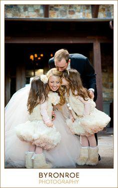 So so cute! Flower girls, Byron Roe Photography #wedding