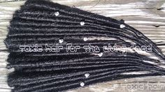 20 all black dreads with skull Beads 20 single ended by ToxicHair, $80.00