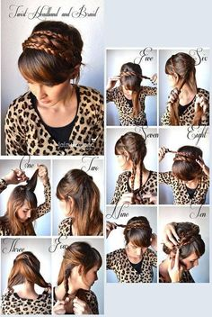 Braid headband, this was actually pretty cute! But used 10,000,000,000 bobby pins