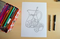 Thorgard - Blog DIY Mode Rennes: Draw on monday #5 - Coloriage