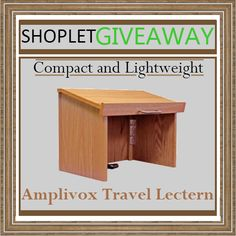 Win an Amplivox Travel Lectern – Folding Table-Top! | Shoplet Blog