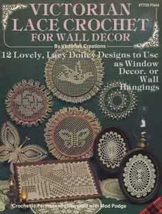 Victorian Lace Crochet, Plaid Crochet Pattern Booklet 7750 Roses Daises Doves & More