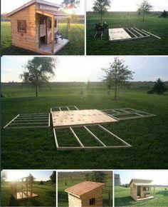 Bouw je eigen tuin -mini huisje