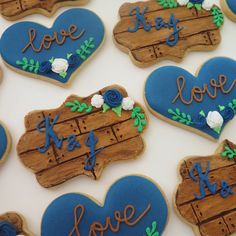 Have A Wedding Ceremony You'll Never Forget With These Tips – Fine Weddings Royal Icing Cookies, Sugar Cookies, Autumn Wedding, Rustic Wedding, Wedding Tips, Wedding Ceremony, Wedding Anniversary Cakes, Cut Out Cookies, Wedding Cookies