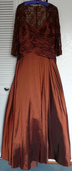 Formal Wedding dress Bridesmaid- Mother of the Bride bronze size 10-12-14