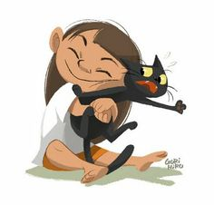 For this weeks Illustration Friday . Character Design Cartoon, Cat Character, Character Design References, Character Design Inspiration, Character Concept, Art And Illustration, Character Illustration, Girl Pose, Animation