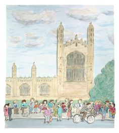 kings parade - best place to have an ice cream in cambridge limited print  #cambridge #kingscollege #cambridgeart #