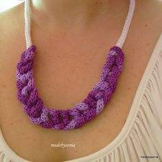 Spool knitting: necklace by made by sónia