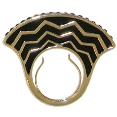 Egyptian Lotus Style Stackable Ring, Adjustable with Rhinestones