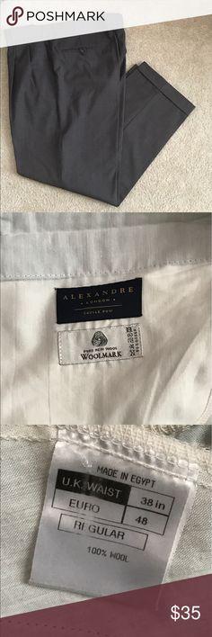 Men's Dress Pants A wardrobe staple.  Great color that is universal.  💯 wool. Alexandre London Pants Dress