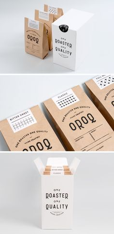 Ranging from simple minimalist designs to intricately detailed and colorful packages, here are 15 examples of creative coffee packaging that looks so good, the coffee probably tastes better. Food Packaging Design, Coffee Packaging, Coffee Branding, Bottle Packaging, Packaging Ideas, Product Packaging, Gift Packaging, Coffee Box, Coffee Gifts