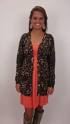 LOVE....the leopard cardigan