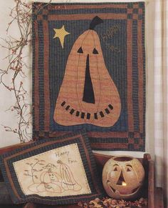 Primitive Halloween Pumpkin Quilt Pattern