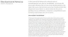 Óleo Essencial de Palmarosa http://www.herbia.com.br/blog/oleos-essenciais/oleo-essencial-de-palmarosa_6/