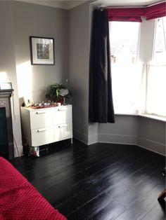 Black floor with Farrow & Ball's Pavilion Grey