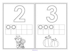 FREE set of numbers and with a Fall theme to stamp. There are 2 versions, one with the filled in, and one without. Math Classroom, Kindergarten Math, Teaching Math, Preschool Rules, Preschool Printables, Math Stations, Math Centers, Fun Math, Preschool Activities