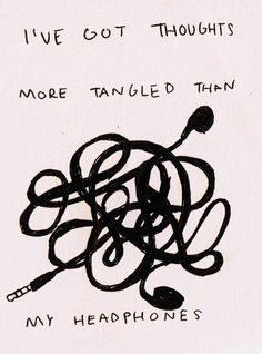I've Got Thoughts More Tangled Than My Earphones,  Click the link to view today's funniest pictures!