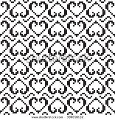 Pixel pattern. Seamless background texture. The pattern can be used to the scheme for embroidery, knitting, sewing and other creative work.
