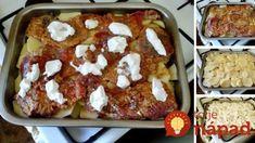 Čím väčší plech, tým lepšie – toto je pekelne dobré papanie: Vrstvený bravčový kastról s jemne pikantným mäskom!